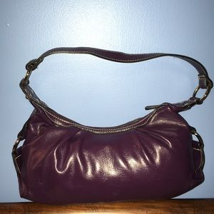 Handbags - Purple Faux Leather Shoulder Bag
